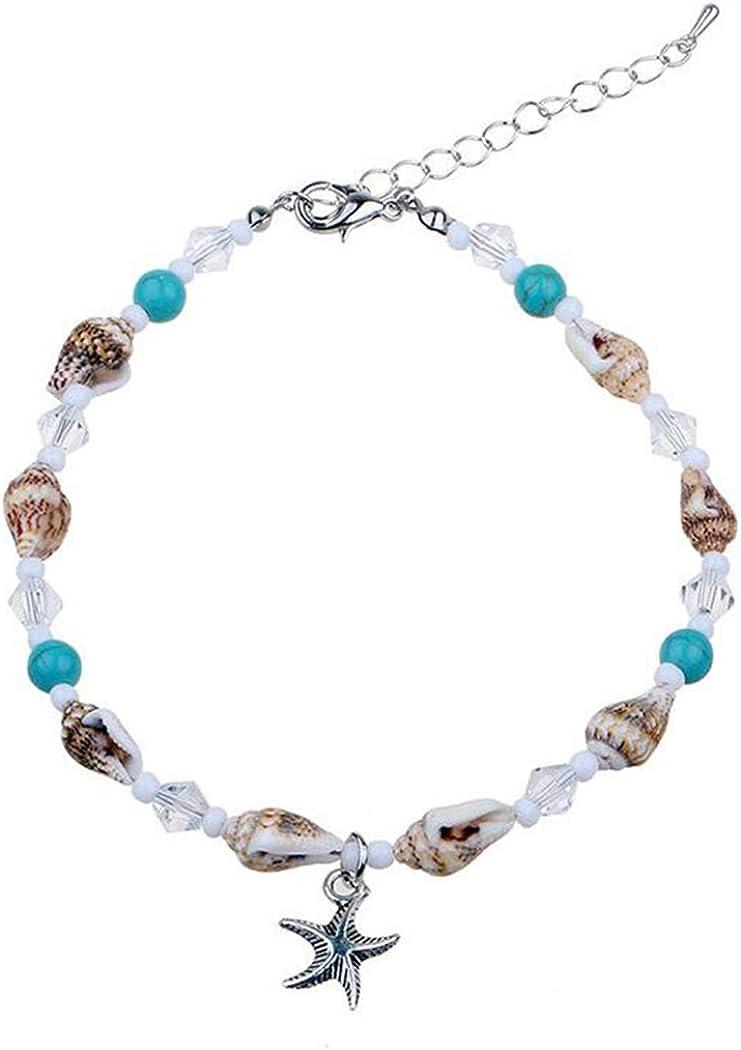 YOIL Exquisite und Kompakte Schmuck Dekoration DIY Seestern Shell Anh/änger gro/ßes Loch Bead Armband blau