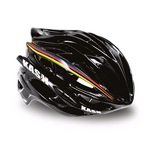 Highway Stripe (Highway 2 Kask Mojito Helmet, Black with Rainbow Stripe, Medium)