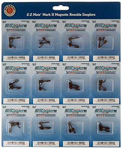 - Bachmann Trains E-Z Mate Magnetic Knuckle Couplers - Center Shank - Long (Card of 12)