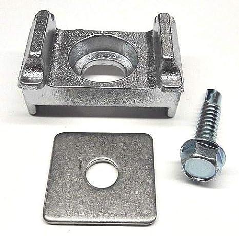Aluminium Auflagebock Zaun Gittermatten Halter Stabzaun Pfosten Befestigung Eck