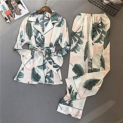 XSWY Pijamas para mujer 2018 New Primavera Otoño Stitch Set ...