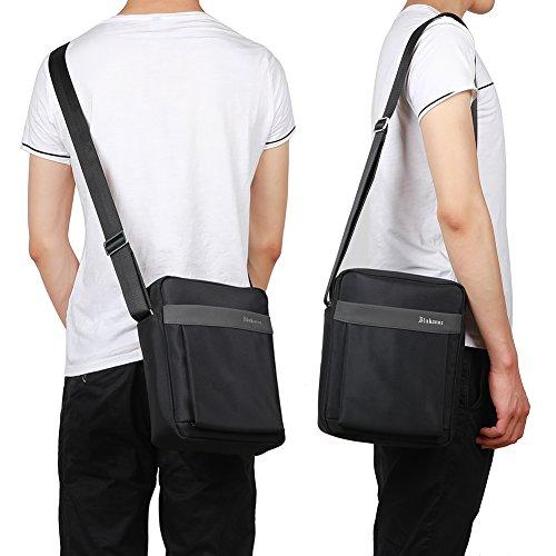 Body Shoulder Satchel Messenger Egogo Briefcase 3 black Grey Cross E407 Man's Bag qwnCf1Y
