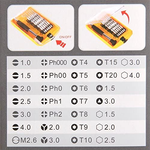Convenient IPhone 4 /& 4S Family Must-have Repair Tool Compatible With IPhone 5 /& 5S /& 5C Samsung Galaxy SIII Mini I8190 And Other Mobile Phone 32 In 1 Hotian Versatile Screwdrivers Set 3G /&3GS