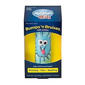 Hyland's 4 Kids Bumps 'n Bruises Stick Multi-Color with Arnica, Natural Relief of Bruising, Pain and Swelling, 0.8 Ounce