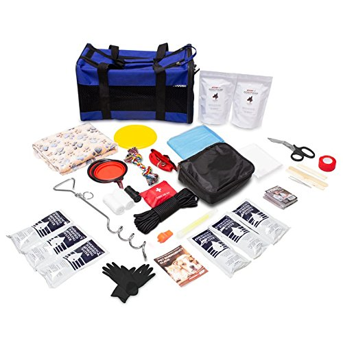 Emergency Zone Deluxe Dog Go-Bag Bug-Out Survival Kit. Prepare Your Dog for Hurricanes, Earthquakes, Wildfires, etc.