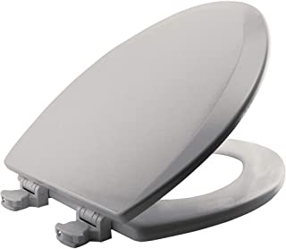 product image for BEMIS 1500EC 062 Toilet Seat with Easy Clean & Change Hinges, ELONGATED, Durable Enameled Wood, Ice Grey