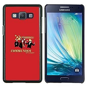 Posters Partido soviéticos Red- Metal de aluminio y de plástico duro Caja del teléfono - Negro - Samsung Galaxy A5 / SM-A500