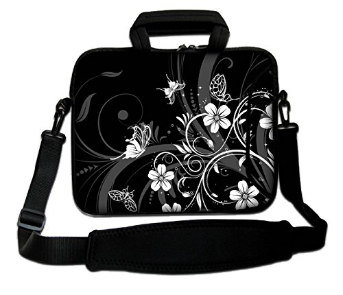 MacBook Air Handle MacBook Unibody Apple White amp; Bag Aluminum Sleeve MacBook Notebook Pro for Flowers Pro Retina PowerBook Shoulder MacBook MacBook Soft Strap and Laptop Case iBook Butterflies Design With q60gOO