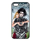 Case for iPhone 5 5s,5s Cover,Black/White Sides,Classic Style Customzie Unique Design iPhone 5s Cases, TPU Material,Edward Scissorhands