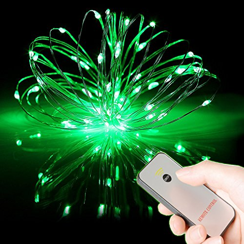 HAHOME Battery Operated Christmas Fairy String Lights with Remote for Holiday Wedding Halloween Patio Party (Fairy Lights Green)