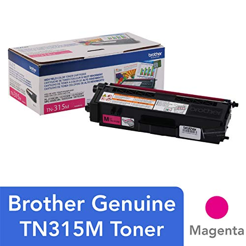 Brother Genuine High Yield Toner Cartridge, TN315M, Replacement Magenta Toner, Page Yield Up To 3,500 Pages, - 9450cdn Color Laser Mfc