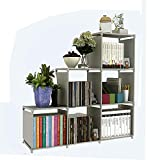 Cube Storage Organizer,3-Tier 6-Cube Closet Storage Shelves Cabinet, Bookcase, Storage Shelving for Bedroom, Living Room, Office, Grey with Steel Frame and Water-Proof Non-Woven Fabric, US Stock