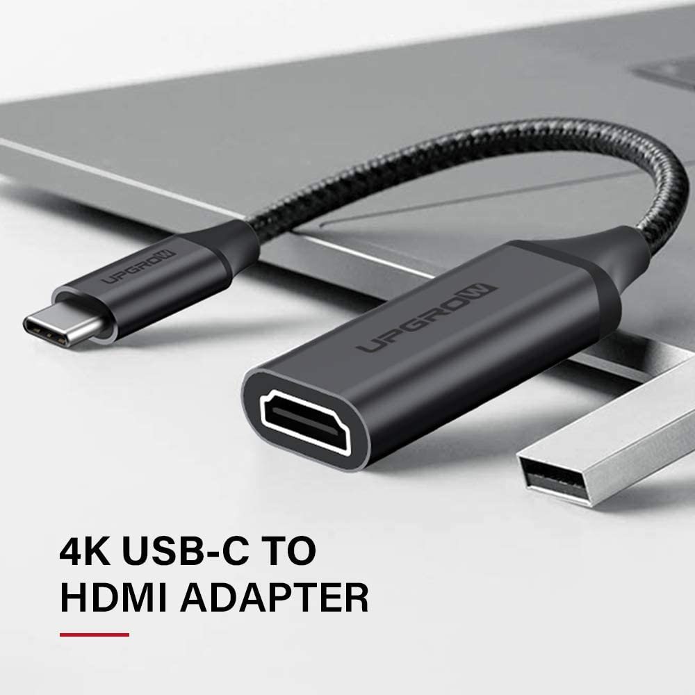 MacBook Pro 2017-2020 Thunderbolt 3 Compatible Dell XPS 13//15 Upgrow USB C to HDMI Adapter 4K Cable USB Type-C to HDMI Adapter Samsung Galaxy S9//S8 UPGROWCMHF01 Surface Book 2 Pixelbook More