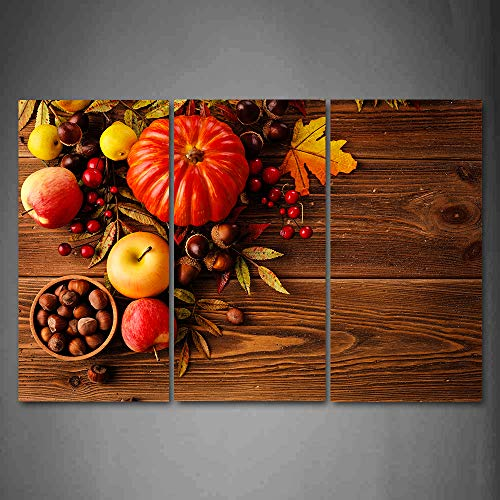 Big horn deer 3 Piece Food Picture Canvas Wall Art Painting - Vegetable and Fruit, Fresh Ingredients - Modern Wall Decor-Giclee Print/Gallery Wrap Home Decor Ready to Hang 32
