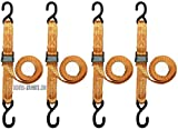 Scooter Motorcycle ATV Tie Down Straps w/ Hooks 4 Pack