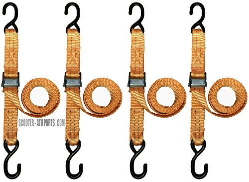 Cam Buckle Tie Down Straps with Hooks 1 1/2