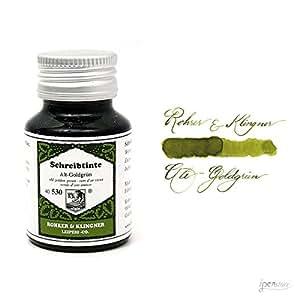 Rohrer & Klingner bottled fountain pen ink - Old Golden Green (50mL)