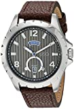 ESQ Men's Quartz Stainless Steel and Leather Casual Watch, Color:Brown (Model: 37ESQE07001A)