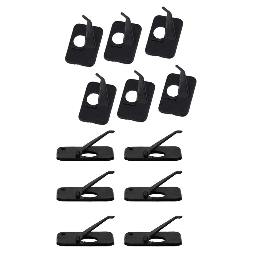 Sharplace 6pcs Gauche et 6pcs Droite Repose-Flèche Support Adhésif Accessoire Tir à Arc
