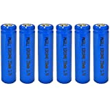 ICR10440 AAA Size 3.7V 350MAH Lithium Ion Rechargeable Battery (6pc button top)