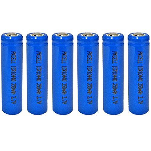 Li Ion Rechargable Battery - ICR10440 AAA Size 3.7V 350MAH Lithium Ion Rechargeable Battery (6pc button top)