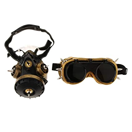 P Prettyia Gafas de Gas con Máscara Esqueleto para Adultos Adolescentes Mascarada Embellecedor Regalos Personalizados