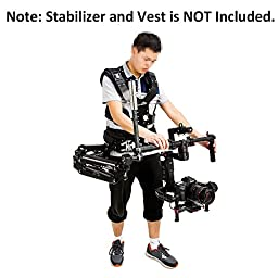 Laing ME-B Camera Shoulder Load Vest Connector for 3-Axis Handheld Stabilizer with 30mm/25mm Handle Bar Such As DJI Ronin Series/Freefly MoVI Series/MOZA Lite 2 Series
