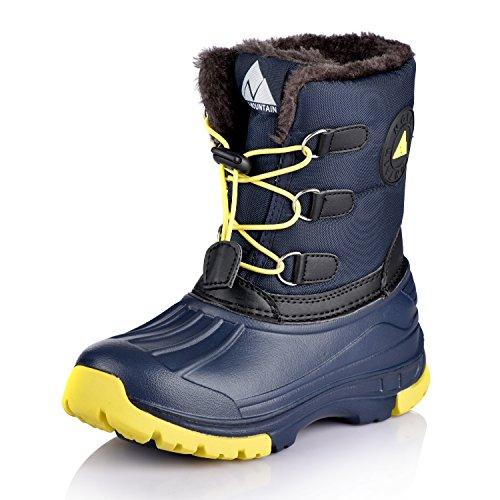 Winter Boots Navy (Nova Mountain Little Kid's Winter Snow Boots,NF NFWBN02 Navy 12)