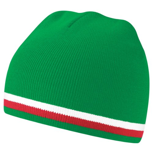de Gorro Whtie invierno Beanie del países Red nacionalidades banderas Beechfield mundo Green Colores q1FHwwx
