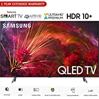 Samsung QN75Q8FNB 75 Q8FN QLED Smart 4K UHD TV (2018 Model) - (Certified Refurbished) with 1 Year Extended Warranty
