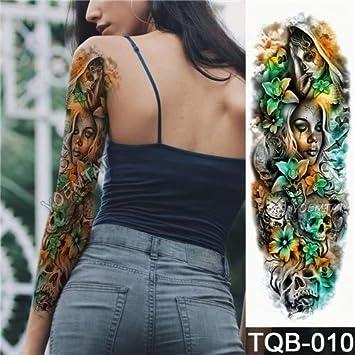 HXMAN Nuevo 48 X 17 Cm Brazo De Flor Completo Tatuaje Pegatina ...