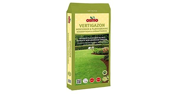 Osmo Vertigazon fertilizante de liberación lenta para césped con efecto Anti indirecta musgo 6-3-20 (DK 6-1-17) 10 kg No requiere anti musgo herbicida: ...