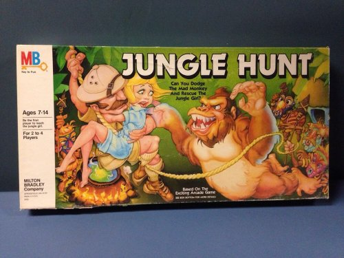 Vintage 1983 Jungle Hunt Board Game (Based on the exciting arcade game)