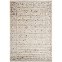 Safavieh Vintage Collection VTG432D Transitional Oriental Light Grey and Ivory Distressed Area Rug (51 x 77)