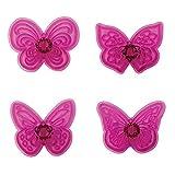 Plastic Cutters 4/Pkg, Lacy Butterflies