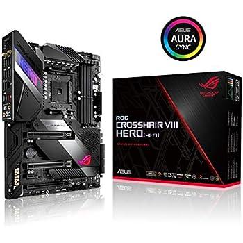 Amazon com: ASUS ROG Crosshair VII Hero AMD Ryzen 2 AM4 DDR4 M 2 USB