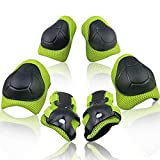 Wemfg Kids Protective Gear Set Knee Pads and Elbow Pads for Kids 2-8 Years Toddler Boys and Girls Wrist Guards Rollerblade 3 in 1 for Skating Rollerblading Cycling Biking