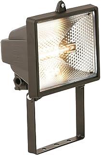 MLA fl02bk – Enclosed 500 W halógena luz de seguridad y foco – Negro