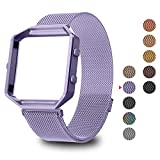 Greeninsync Compatible Fitbit Blaze Bands for Women Men Large, Milanese Stainless Steel Metal