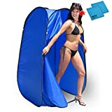Pop-Up Room in a Bag Instant Portable Changing Room with Dura-light Steel Frame and Weather-Resistant Material for Pools, Spas, Hot Tubs, Lakes, Beach and more! Includes Tie-Down Kit and Two Cleaning Cloths
