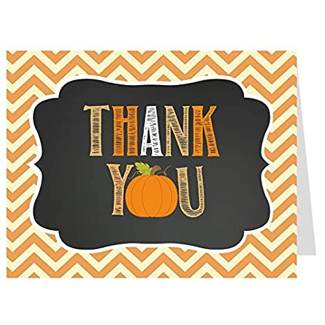Amazon Com Pumpkin Thank You Cards Fall Autumn Baby Shower