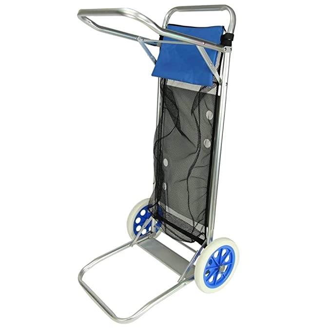 Enjoy Carro portasillas Playa Plegable con Mesa Red y Bolsillo Porta Objetos Aluminio: Amazon.es: Deportes y aire libre