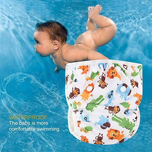 #N//A Waschbare Baby verstellbare Schwimmwindel Poolhose wasserdichte Schwimmwindel