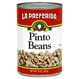 La Preferida Beans Pinto (Frijoles Pinto), 15-Ounce (Pack of 24)