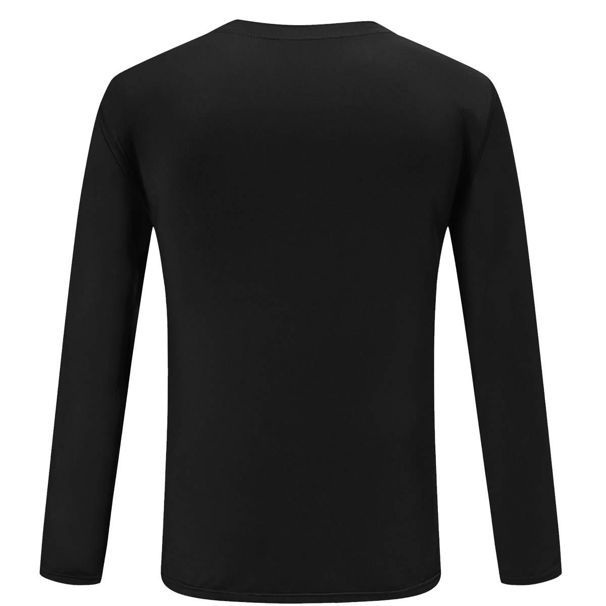 TELALEO Boys/' Girls/' Youth Athletic Performance Long Sleeve T Shirts Cool Dri Fit Moisture Wicking UPF 50+