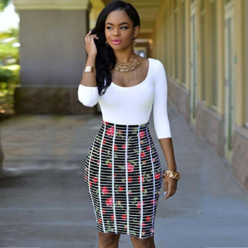 Evening Sleeve Bandage Women Cocktail Bodycon Party Long Dress White Dresses UfYHFq7