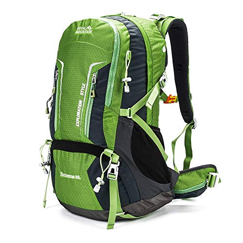 ROYAL MOUNTAIN 50L Hiking Travel Backpack, Internal Frame Waterproof Outdoor Sport Daypack with Rain Cover, -