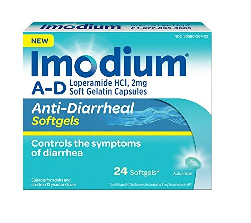 Imodium A-D, 24 Softgels Per Box (8 Boxes)