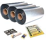 30sqft (3 x 10sqft) GTMat Pro 50mil Car Audio & Heat Shield Sound Deadener Mat & Dynamat Xtreme sampleerial