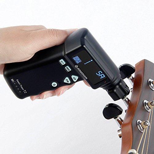 YUEKO T2 Automatic Smart Guitar Tuner for all String Instruments (Electric & Acoustic Guitars,Ukulele, Mandolin, Banjo, etc.)